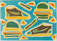 Katherine Bernhardt (b. 1975) Cheese Burger Deluxe, 2016 Lithograph in colors on Somerset paper 2