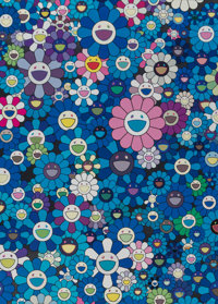 Takashi Murakami (b. 1962) An Homage to IKB 1957 B, 2012 Offset lithograph in colors on smooth wove