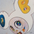 Fine Art - Work on Paper:Print, Takashi Murakami (b. 1962). And Then X6 (White: The Superflat Method Blue and Yellow Ears), 2013. Offset lithograph in c...