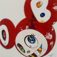 Takashi Murakami (b. 1962) And Then x 6 (Red: The Superflat Method), 2013 Offset lithograph in color