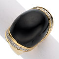 Estate Jewelry:Rings, Diamond, Onyx, Gold Ring . ...
