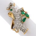 Estate Jewelry:Rings, Diamond, Emerald, Gold Ring, Maurice Katz. ...
