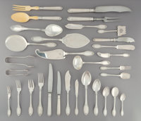 A Three Hundred Forty-Three-Piece Gianmaria Buccellati Empire Pattern Silver Flatware Servic
