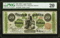 Large Size:Legal Tender Notes, Fr. 124 $20 1862 Legal Tender PMG Very Fine 20.. ...