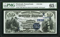 National Bank Notes:Pennsylvania, Pittsburgh, PA - $20 1882 Date Back Fr. 552 The Diamond National Bank Ch. # (E)2236 PMG Gem Uncirculated 65 EPQ.. ...