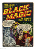 Golden Age (1938-1955):Horror, Black Magic #6 (Prize, 1951) Condition: VG+. Art by Joe Simon andJack Kirby, George Roussos, and Mort Meskin. Overstreet 20...