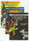 Modern Age (1980-Present):Alternative/Underground, Cerebus The Aardvark #4, 6, 7, 9, and 10 Group (Aardvark-Vanaheim, 1978-79) Condition: Average VF. Five issues in this lot. ... (Total: 5 Comic Books Item)