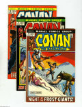 Bronze Age (1970-1979):Miscellaneous, Conan the Barbarian Group (Marvel, 1972-73) Condition: Average VF.This group includes #16 (two copies), 17 (two copies), 18...(Total: 11 Comic Books Item)