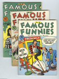 Golden Age (1938-1955):Cartoon Character, Famous Funnies Group (Eastern Color, 1934) Condition: Average VG+.Includes issues #96-98 and 111. Issue #97 contains two ne...(Total: 4 Comic Books Item)
