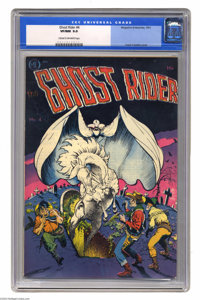 Ghost Rider #4 (Magazine Enterprises, 1951) CGC VF/NM 9.0 Cream to off-white pages. Frank Frazetta cover. Overstreet 200...