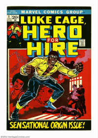 Hero for Hire #1 (Marvel, 1972) Condition: VF. First appearance of Luke Cage (later Power Man). George Tuska art. Tan ed...
