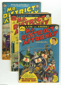 Golden Age (1938-1955):Crime, Mr. District Attorney Group (DC, 1948-53) Condition: Average GD+. This group includes #5, 6, 34 (has cuts through the cover)... (Total: 4 Comic Books Item)