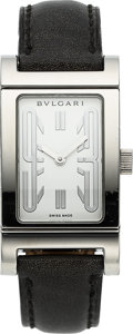 Timepieces:Wristwatch, Bvlgari, Rettangolo Steel Rectangular Wristwatch. ...