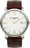 "Timepieces:Wristwatch, Baume & Mercier, ""Classima"" Steel Wristwatch. ..."