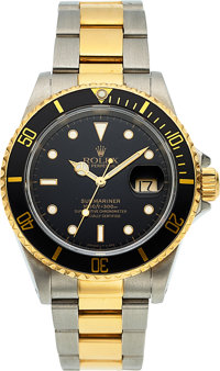 Rolex, Submariner Ref. 16613, Oyster Perpetual, Steel and Gold, Circa 1995