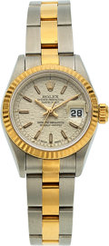Timepieces:Wristwatch, Rolex, Lady's Oyster Perpetual Date, Two Tone, circa 1995. ...