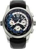 Timepieces:Wristwatch, Girard Perregaux, Steel World Time Chronograph, BMW Oracle Racing, No. 559/750. ...