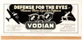 Original Comic Art:Illustrations, Edgar Church Vodian Optometrists Decorative Original Advertising Art (Ideal Art Service, 1940s). ...