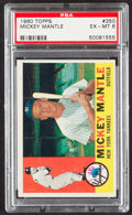 Baseball Cards:Singles (1960-1969), 1960 Topps Mickey Mantle #350 PSA EX-MT 6....