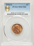 1936-S 1C MS67 Red PCGS. PCGS Population: (78/0). NGC Census: (131/0). CDN: $400 Whsle. Bid for problem-free NGC/PCGS MS...