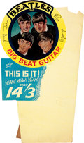 Music Memorabilia:Memorabilia, The Beatles Original Big Beat Guitar Easel Back Counter Display (UK-1964)....