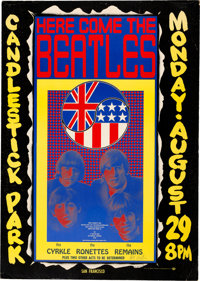 Beatles 1966 Candlestick Park Final Show Poster Signed by Artist Wes Wilson (AOR-1.115)