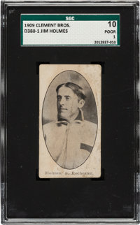 Very Rare 1909 D380-1 Clement Bros. Bread Jim Holmes SGC 10 Poor 1