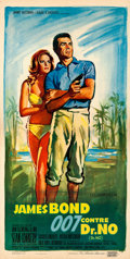 "Movie Posters:James Bond, Dr. No (United Artists, 1962). Very Fine on Linen. French Poster (15.5"" X 30.75"") Boris Grinsson Artwork. . ..."