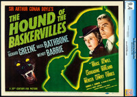 "The Hound of the Baskervilles (20th Century Fox, 1939). Near Mint. CGC Graded Title Lobby Card (11"" X 14"")..."