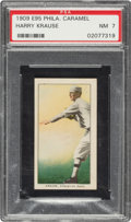 Baseball Cards:Singles (Pre-1930), 1909 E95 Philadelphia Caramel Harry Krause PSA NM 7 - Pop Three, None Higher. ...