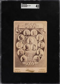 "Baseball Cards:Singles (Pre-1930), 1889 Excelsior ""Stockton ""1889 Champions"" Cabinet Card SGC VG/EX 4 - Possibly Unique. ..."