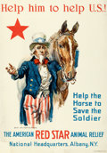 """Movie Posters:War, World War I Propaganda by James Montgomery Flagg (American Red Star Animal Relief, c. 1917). Fine on Linen. Poster (23"""" X 33..."""