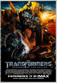 "Transformers: Revenge of the Fallen (Paramount, 2009). Rolled, Very Fine+. Printer's Proof One Sheet (28"" X 41.25&q..."
