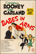 "Movie Posters:Musical, Babes in Arms (MGM, 1939). Fine- on Linen. One Sheet (26.75"" X 40.5"") Style D. Musical. From the Collection of Frank Buxto..."