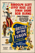 """Movie Posters:Musical, Belle of the Yukon (RKO, 1944). Fine+ on Linen. One Sheet (27.25"""" X 41""""). Musical. From the Collection of Frank Buxton, of..."""