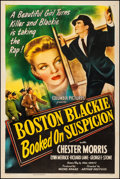 "Movie Posters:Crime, Boston Blackie Booked on Suspicion (Columbia, 1945). Fine/Very Fine on Linen. One Sheet (27.25"" X 41""). Crime. From the Co..."
