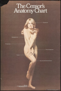 "The Censor's Anatomy Chart (The Old School, 1960s). Rolled, Fine+. Poster (24"" X 36""). Miscellaneous"