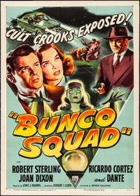 "Bunco Squad (RKO, 1950). Fine/Very Fine on Linen. One Sheet (27"" X 41""). Crime"