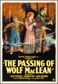 "Movie Posters:Western, The Passing of Wolf MacLean (Usla, 1924). Fine/Very Fine on Linen. One Sheet (28.25"" X 41.25""). Western. From the Collecti..."