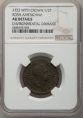 1723 1/2 P Rosa Americana Halfpenny, Crown -- Environmental Damage -- NGC Details. AU. NGC Census: (0/5). PCGS Populatio...