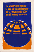 """Movie Posters:Miscellaneous, Protest Poster (1969). Rolled, Fine/Very Fine. Silk Screen Poster (23"""" X 35"""") """"The World Cannot Continue..."""" Miscellaneous...."""