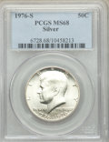 Kennedy Half Dollars, 1976-S 50C Silver MS68 PCGS. PCGS Population: (492/1). NGC Census: (24/0). Mintage 11,000,000....