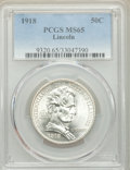 Commemorative Silver, 1918 50C Lincoln MS65 PCGS. PCGS Population: (1365/707). NGC Census: (1117/365). MS65. Mintage 100,058. ...