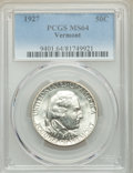 Commemorative Silver, 1927 50C Vermont MS64 PCGS. PCGS Population: (1697/1595). NGC Census: (1369/1022). CDN: $240 Whsle. Bid for problem-free NG...