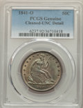 Seated Half Dollars: , 1841-O 50C -- Cleaning -- PCGS Genuine. UNC Details. NGC Census: (0/28). PCGS Population: (1/35). CDN: $1,100 Whsle. Bid fo...