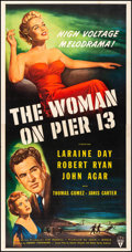 "Movie Posters:Film Noir, The Woman on Pier 13 (RKO, 1950). Very Fine- on Linen. Three Sheet (41"" X 79""). Film Noir.. ..."