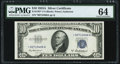 Fr. 1707* $10 1953A Silver Certificate Star. PMG Choice Uncirculated 64