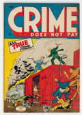 Golden Age (1938-1955):Crime, Crime Does Not Pay #37 (Lev Gleason, 1945) Condition: FN....