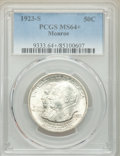 Commemorative Silver, 1923-S 50C Monroe MS64+ PCGS. PCGS Population: (1629/647 and 40/39+). NGC Census: (1567/417 and 24/13+). CDN: $130 Whsle. B...