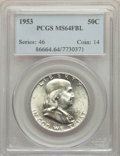 1953 50C MS64 Full Bell Lines PCGS. PCGS Population: (1353/434). NGC Census: (213/71). CDN: $120 Whsle. Bid for problem-...
